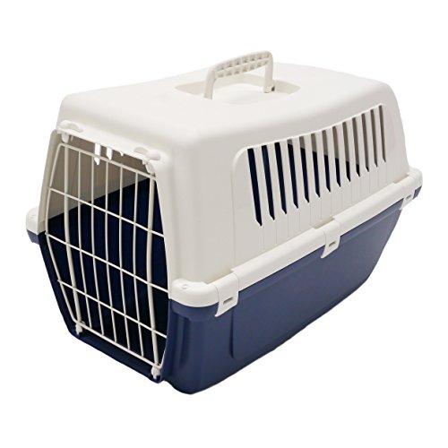 Rosewood Vision Classic - Transportín para Gatos y Mascotas (50 cm), Color Azul