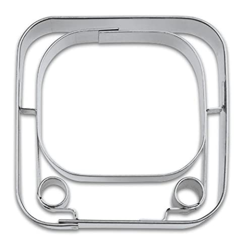 Themed Cookie Cutter Y-Tube APP, Cutter, Städter Stainless Steel 5