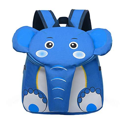 Walkretynbe - Mochila de Lona para niños, diseño de Elefante, Color Azul Claro