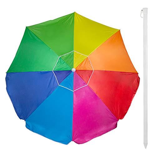 Aktive 62110 - Ombrellone 240 cm Protezione UV50 Beach - Multicolor