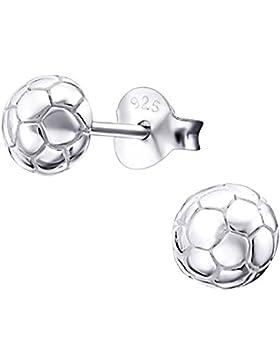 Laimons Kids Kinder-Ohrstecker Kinderschmuck Fußball glanz Sterling Silber 925