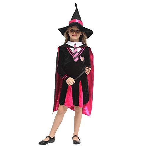 ZYFDFZ Kinder Hexenumhang Harry Potter Magie Student Kostüm Kinder Halloween Mädchen Jungen Halloween Cosplay Kleid Cosplay Requisiten (Farbe : Photo Color, größe : XL (130-140cm))