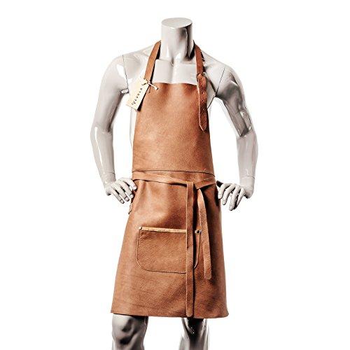 VEDGLA grembiule pelle Grembiule da cucina grembiule cameriere grembiule pelle bovina di alta qualità con cinghia regolabile e ottima