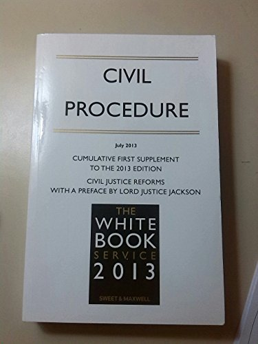 the-white-book-service-2013-civil-procedure-spring-2013-special-supplement-to-the-2013-edition