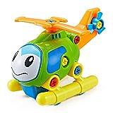Think Gizmos Kit Smontabile per Bambini - Crea Il Tuo Kit di Giocattoli per Ragazzi e Ragazze di 3 4 5 6 7 8 + (Elicottero)
