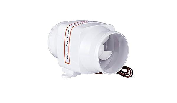 "SEAFLO Small 3/"" In Line Bilge Blower Fan 24V 130CFM 220CMH Boat Air Blower Quiet"