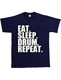 Fancy A Snuggle Eat. Sleep. Drum. Repeat. Rock Drummer Heavy Metal Mens T-Shirt