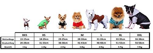 Doggy Dolly W110 Hundejacke Wasserabweisend mit Kapuze, schwarz/rot, Wintermantel / Winterjacke, Größe : XXL - 7