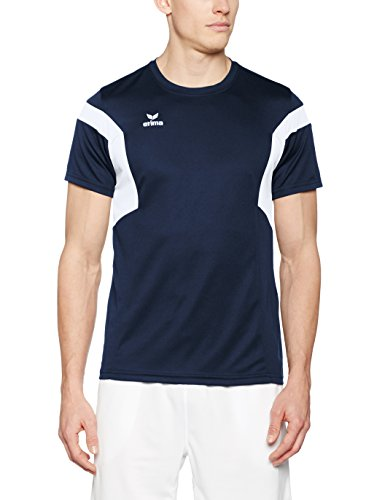 Erima 1086 Classic Team T-Shirt Homme, New Navy/Blanc, FR : L (Taille Fabricant : L)