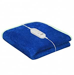 Genius Homes Shock Proof and Heating Electric Single Bed Warmer (Blue)