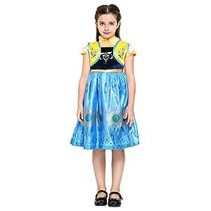 Katara - Disfraz de Anna Frozen Fever, vestido floral de la Reina de Hielo para niñas de 8-9 años