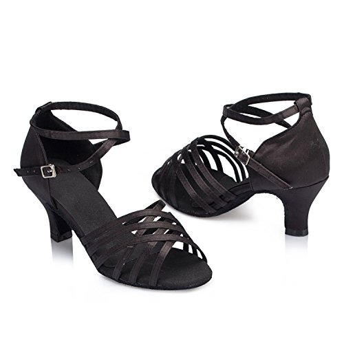 Black Salle heel bal Miyoopark de 6cm femme 4Iw4Oq