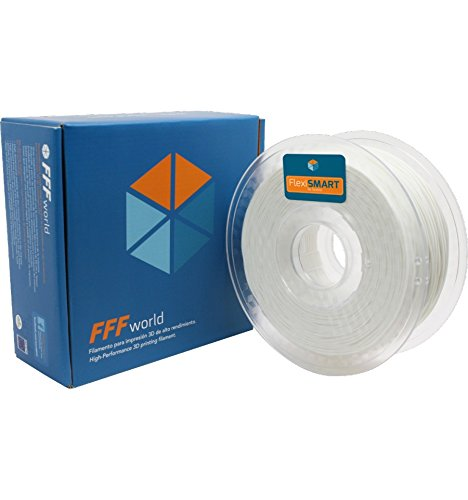 1 kg. White FlexiSMART Flexibel filament TPU für 3D-Drucker 3.0 mm - Flexible filament for 3D printing - TPE filament, TPU filament, elastic filament