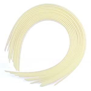 12 Serre-tête bandeau de cheveux fille femme plastique headband 10mm beige