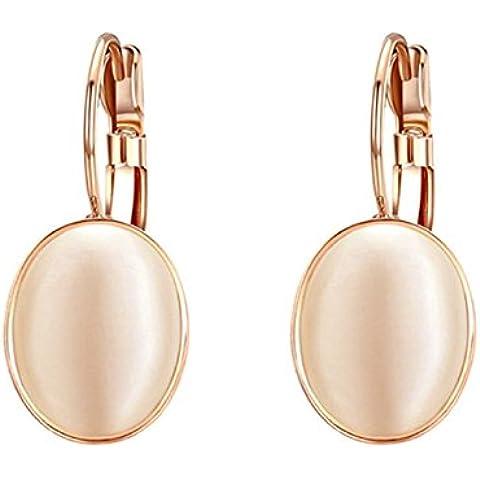 Pendientes de aro de ópalo encantador de huevo Yoursfs chapado en oro para las mujeres……