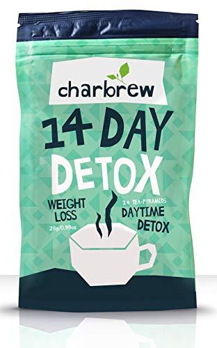 Charbrew Day Time 14 Tage Körper-Detox-Tee-Behandlung - 100% natürliche Teemischung - Fett...