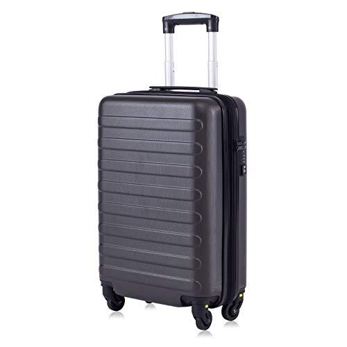 """Toctoto Bagaglio a Mano Espandibile con Lucchetto TSA (20"""" 41LT 55x35x20cm), Adatto Per Voli Low Cost Bagaglio Da Cabina Ryanair, Vueling, Wizz Air (20""""(55cm-41L)-Grigio)"""