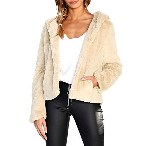 i-uend Sport Damen Mode Winter Warme Bluse Herbst Solide Beiläufige Mantel Lose Fester Weste Hoodie Outwear Casual Mantel Faux Fur Reißverschluss Sherpa Jacke\n