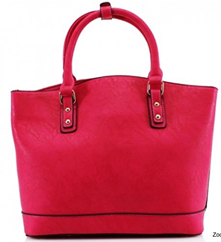 LeahWard® Damen Mode Essener Berühmtheit Tragetasche Modisch Schnell verkaufend Kreuzkörper Handtasche Mit langem Bügel CWS0085 CWS0085A CWS0085B CWRL150513 Groß-Rosa (37x15x44cm)