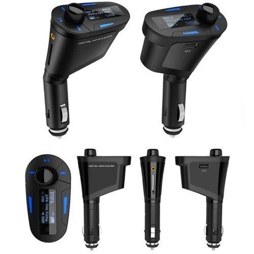 CuteEdison® - Lettore Mp3 per auto, con USB e radio FM, senza fili, supporta schede SD, TF, MMC, USB, con telecomando