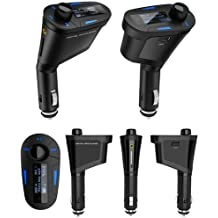 Pantalla LED CuteEdison Kit de coche MP3 reproductor transmisor de radio FM de alta velocidad modulador con USB/SD/MMC tarjetero lector de tarjetas, Come con mando a distancia, 3,5 mm Cable de Audio