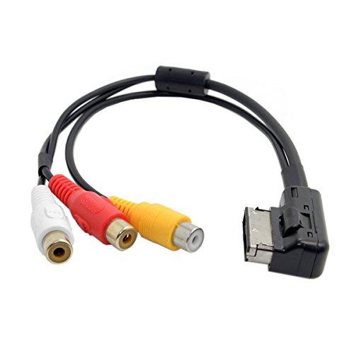 cablecc Ami MMI auf 3RCA Audio-Video-Kabel Buchse DVD Video und Audio Input-Kabel für Audi A1A7A8VW Auto - Input Rca-kabel