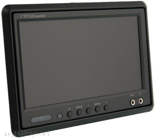 VSG ® 7 Zoll TFT Monitor inkl. Einbaurahmen nur 21mm tief für KFZ & PKW - mit E-Zulassung
