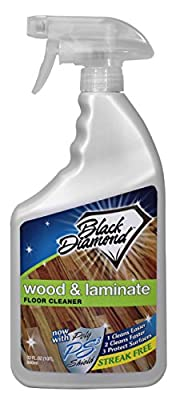 Black Diamond Wood & Laminate Floor Cleaner: For Hardwood, Real, Natural & Engineered Flooring, Biodegradable Safe for Cleaning All Floors 947 ml produced by Black Diamond Stoneworks - quick delivery from UK.