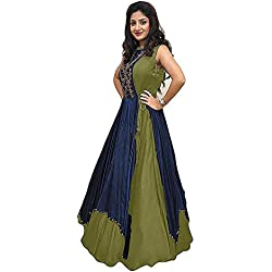 Salwar Suits Dress Materials Dresses Cotton Silk A-Line Printed And Embroidery Designers Collections Salwar Suit Dress Material Women's Party Wear Collections Latest Designer More Than 50%Great Amazon Discount Offers And Sales Special For Eid And Ramzan (Mendi)