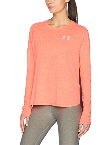 Under Armour Damen Graphic Triblend LS Oberteil, Marathon Red Light H, S
