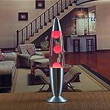 ADFDJGH TischlampeUs-stecker Led 110 V Metall Basis Lava Lampe Wachs Volcano Stil Nachtlicht Quallen Nachtlicht Blendung American Plug, rot