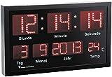 Lunartec LED Funkuhr: LED-Funk-Tisch- und Wanduhr mit Datum und Temperatur, 412 rote LEDs (Multi LED Funk Uhr)
