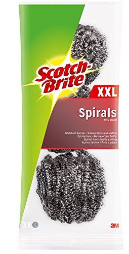 Scotch-Brite ISX3 Edelstahl-Spirale, groß, scheuerstark, 3 Stück