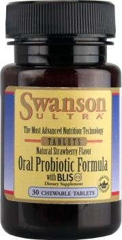 Swanson Oral Probiotic Formula Strawberry Flavor (30 Chewable Tablets) from Swanson Health Products