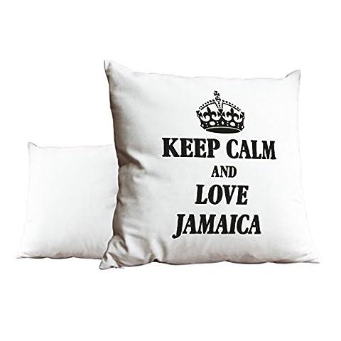 Noir Keep Calm and Love Jamaica Blanc Scatter Taie d'oreiller 1971