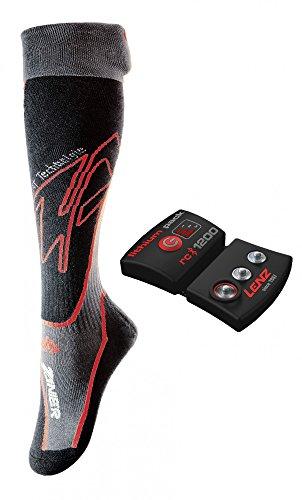 Zanier Feet Heat Set - Beheizbare Socken mit Akkus M schwarz