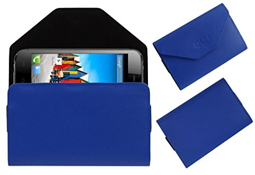 Acm Premium Pouch Case For Micromax A115 Canvas 3d Flip Flap Cover Holder Blue  available at amazon for Rs.179