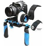 eimo DSLR Rig épaule de montage banc stabilisateur et Follow Focus avec ceinture Anneau de vitesse pour appareils reflex et caméscope