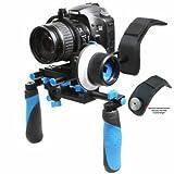 Morros DSLR Rig Schulterstativ Rig Stabilizer und Folgen Focus mit Zahnrad-Ring-Gurt für DSLR-Kameras und Camcorder