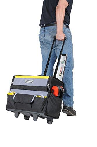 Stanley Werkzeugkoffer / Werkzeugtasche mit Rollen, (44.5x25.5x42cm, wasserfester Kunststoffboden, Trolley aus strapazierfähigem und robustem 600x600 Denier Nylon, viele Verstaumöglichkeiten) 1-97-515 - 10