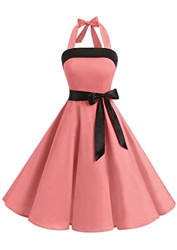 Timormode Robe Rockabilly pin up Robe Audrey Hepburn Vintage Robe Demoiselle d'Honneur Grande Taille