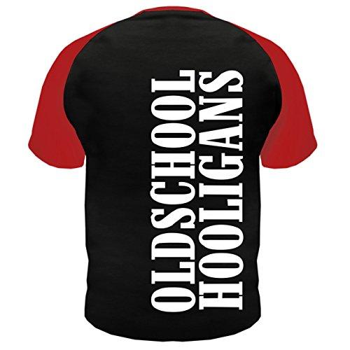 Männer und Herren T-Shirt Football MY WAY MY LIFE (mit Rückendruck) Schwarz/Rot