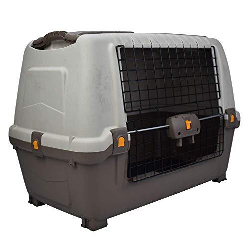 Mps s01100300 skudocar 80, transportino per cane, grigio, 76 x 45 x 54 cm