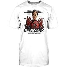 Spiderman Unmasked Police Line Up Mug Shot - NYPD Mens T Shirt
