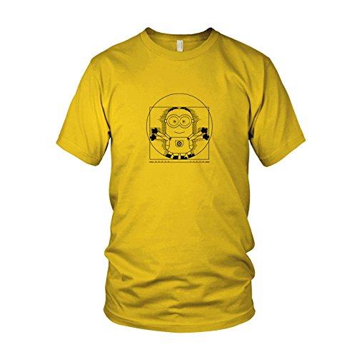 Vitruvian Banana - Herren T-Shirt, Größe: XXL, Farbe: gelb