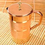 #2: High Quality Pure Copper Jug Pitcher,Drinkware & Serveware Set, Good Health Benefits, 1500 ML