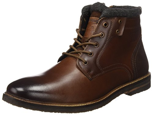 s.Oliver Herren 15108 Combat Boots, Braun (Cognac), 43 EU