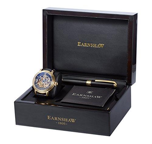 Thomas Earnshaw Herren-Armbanduhr Thomas Earnshaw Watch and Pen set (TE-SET4 ES-8011-03/ES-PEN-8004) Analog Automatik Leder Schwarz Earnshaw Watch and Pen set (TE-SET4)