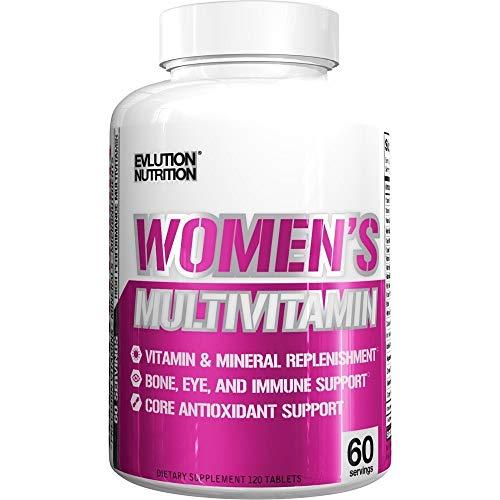 Evlution Nutrition Women's Daily Multivitamin Supplement - Biotina, Vitaminas A B C D E, Calcio, Zinc,...
