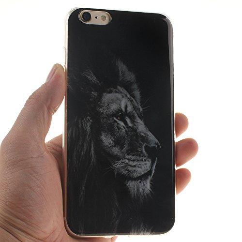 "Apple iphone 6/6s 4.7"" hülle,MCHSHOP Ultra Slim Skin Gel Schlank TPU Case Schutzhülle Silikon Silicone Schutzhülle Case Back Cover für Apple iphone 6/6s 4.7"" - 1 Kostenlose Stylus Pen (Blue Angry Face Black Lion"